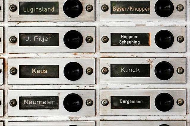 Die häufigsten Familiennamen im Breisgau