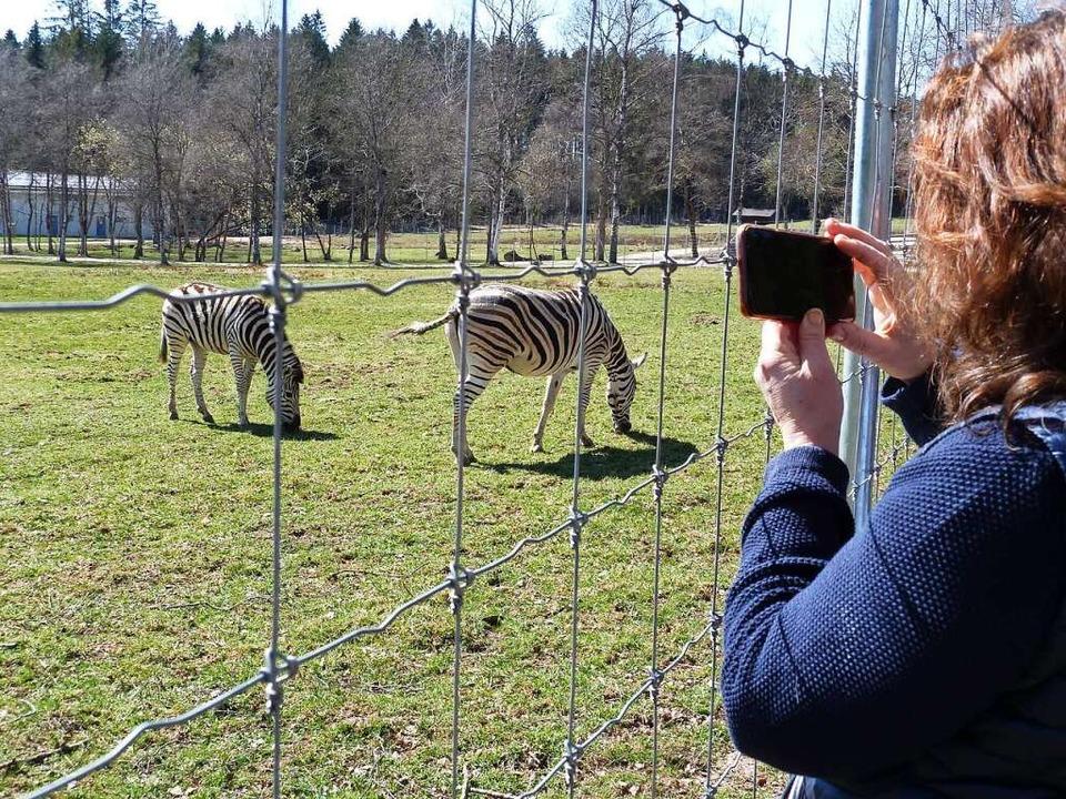 Zur Erinnerung an den  Ausflug machen die Gäste  Fotos.  | Foto: Heidrun Simoneit