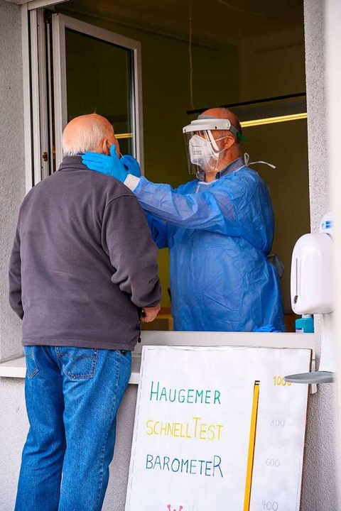 In Hauingen testet die örtliche Praxisgemeinschaft in der Kunz-Stiftung.  | Foto: Ansgar Taschinski