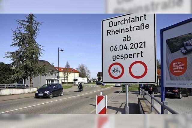 Brückensanierung in der Rheinstraße hat begonnen