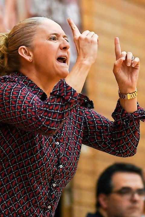 "USC-Trainerin Isabel ""Moses"" Fernandez    Foto: Patrick Seeger"