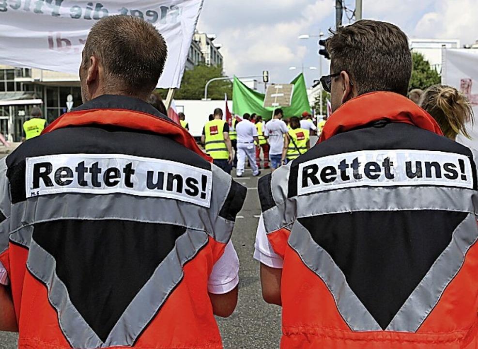 Mehr Geld für das Gesundheitswesen fordert Verdi seit langem.  | Foto: Silas Stein