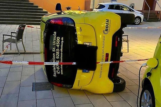 Hoher Schaden durch Vandalismus in Offenburg