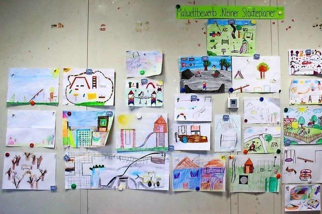 Junge Leute malen ihre Vision von Lahr-West