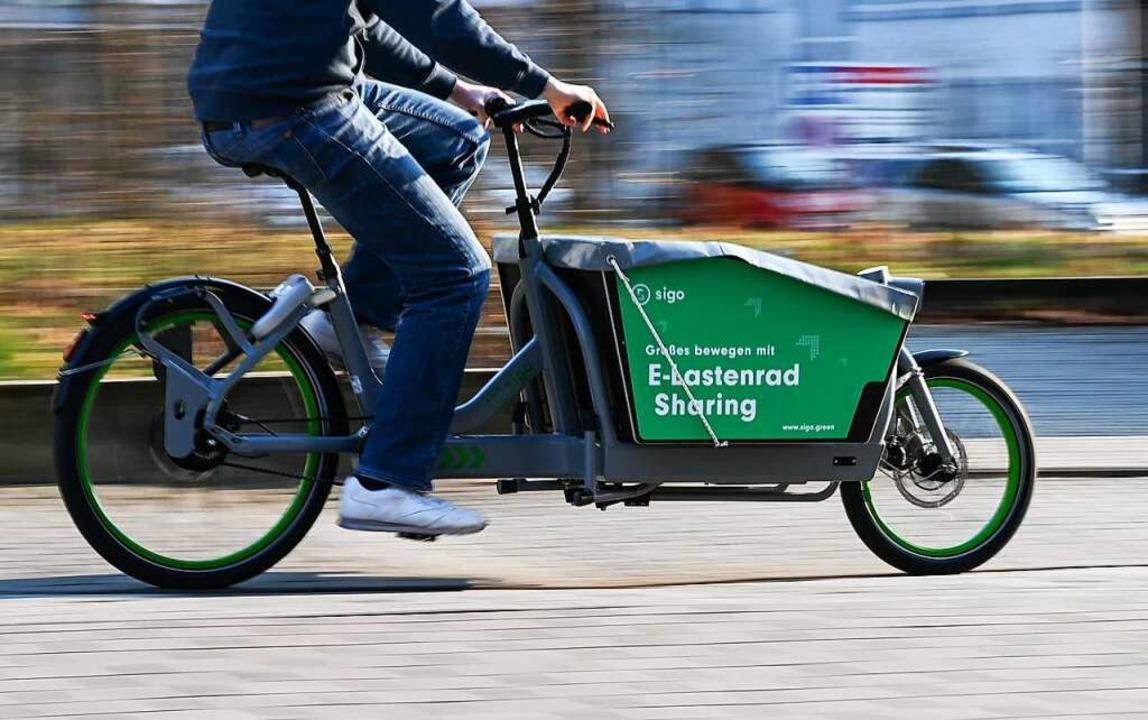 Ein Lastenrad  | Foto: Arne Dedert (dpa)