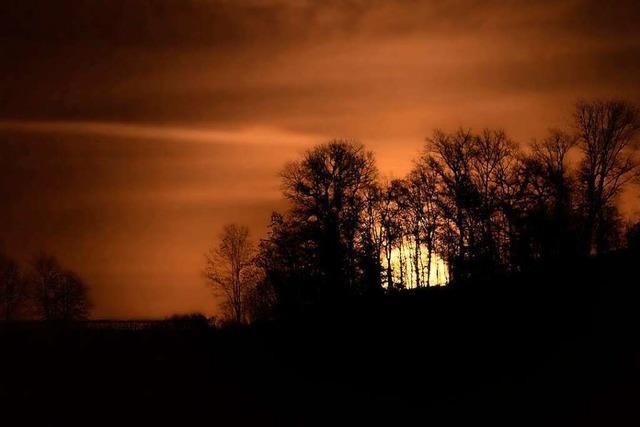 Der Mond als Osterbote über dem Hornwald