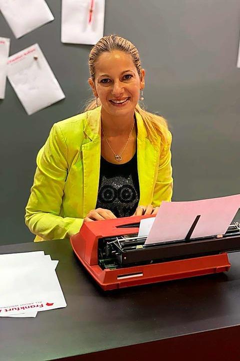 Janet Zentel auf der Frankfurter Buchmesse     Foto: privat