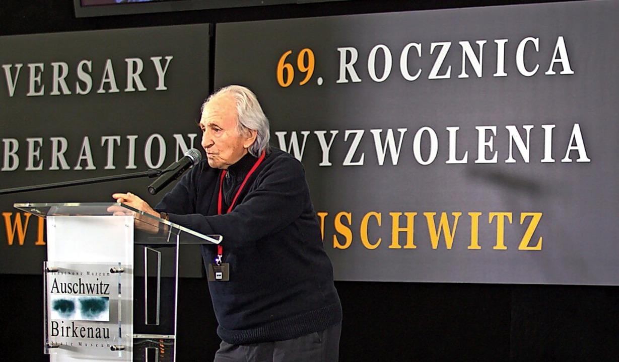 Noah Klieger kam als Zeitzeuge immer w...itz – dieses Bild entstand 2014.    Foto: Andrzej Grygiel