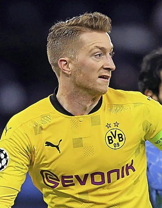 Marco Reus erzielte das zwischenzeitliche 1:1 für Borussia Dortmund.  | Foto: Lindsey Parnaby (dpa)