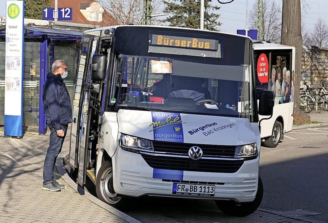 Das BB im Kennzeichen steht für Bad Krozingens Bürgerbus.    Foto: Hans-Peter Müller