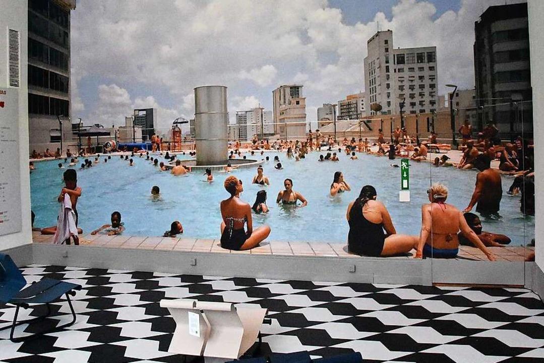 Öffentlicher Raum wird in São Paulo im... oben ist ein öffentliches Schwimmbad.  | Foto: Kathrin Ganter
