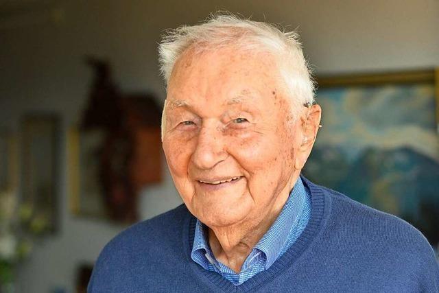 Der Freiburger Hans Keller ist hundert Jahre alt – und bis auf ein paar Wehwehchen noch fit