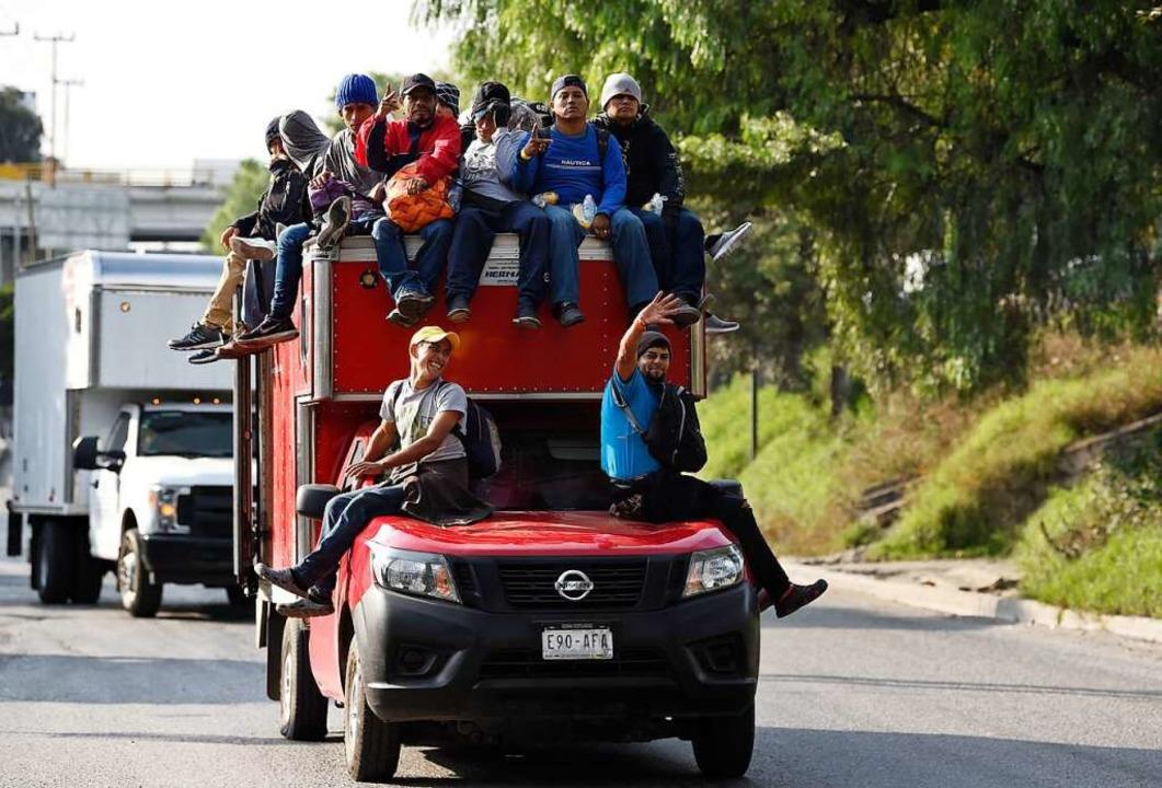 Migranten auf dem Weg in die USA.  | Foto: ALFREDO ESTRELLA