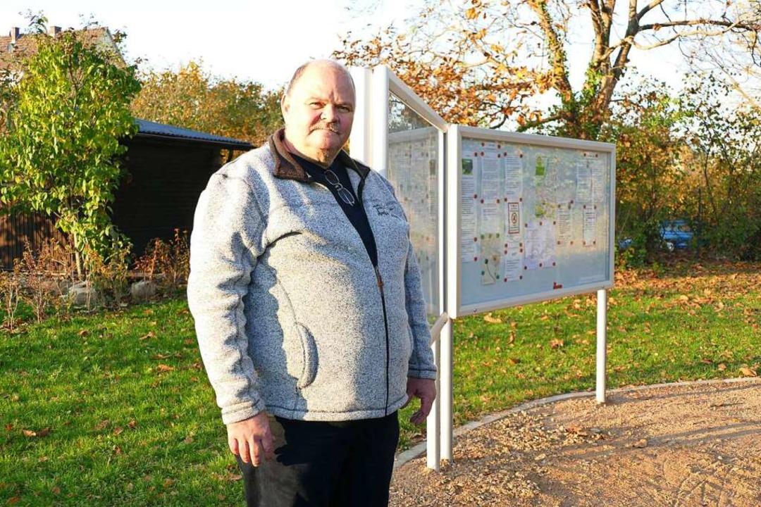 Jens Knebel ist Vorsitzender des Klein...ein selbst aufgestellt und finanziert.  | Foto: Susanne Ehmann