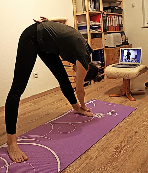 Online-Anleitung für Yoga  | Foto: Dora Schöls