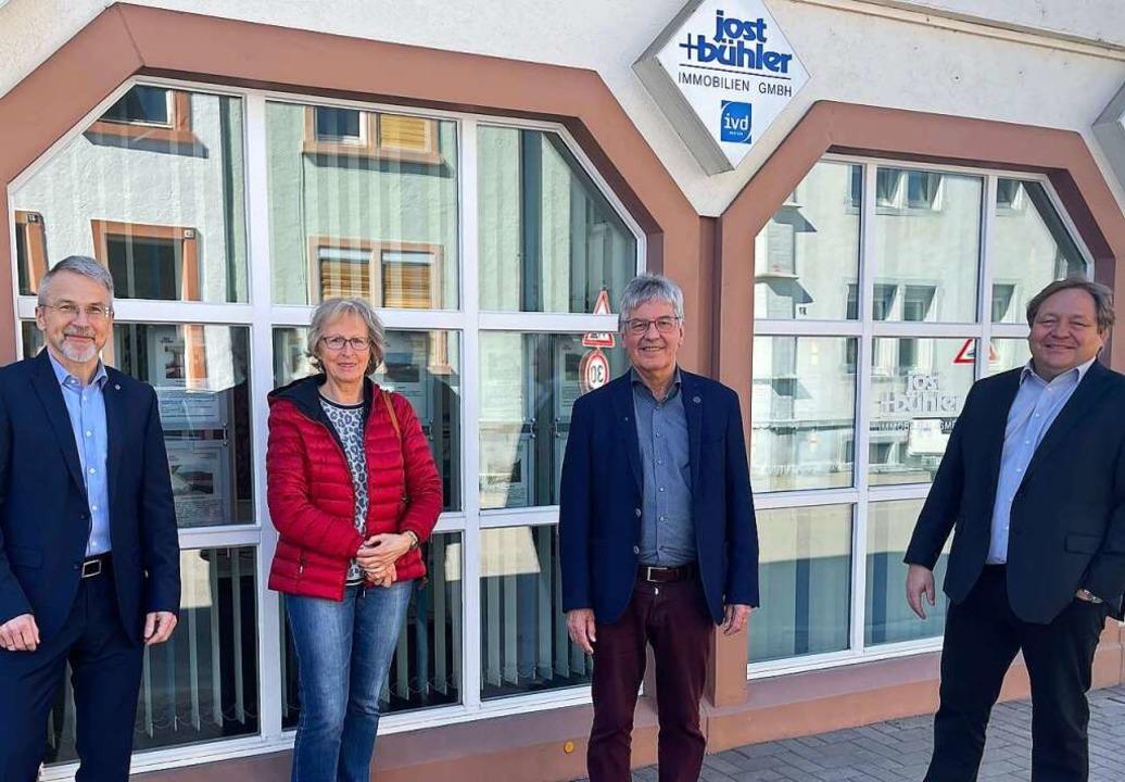 Andreas Meier, Hildegard Förstera, Wolfgang Bühler, Harald Klemm.  | Foto: Hans-Jürgen Hege