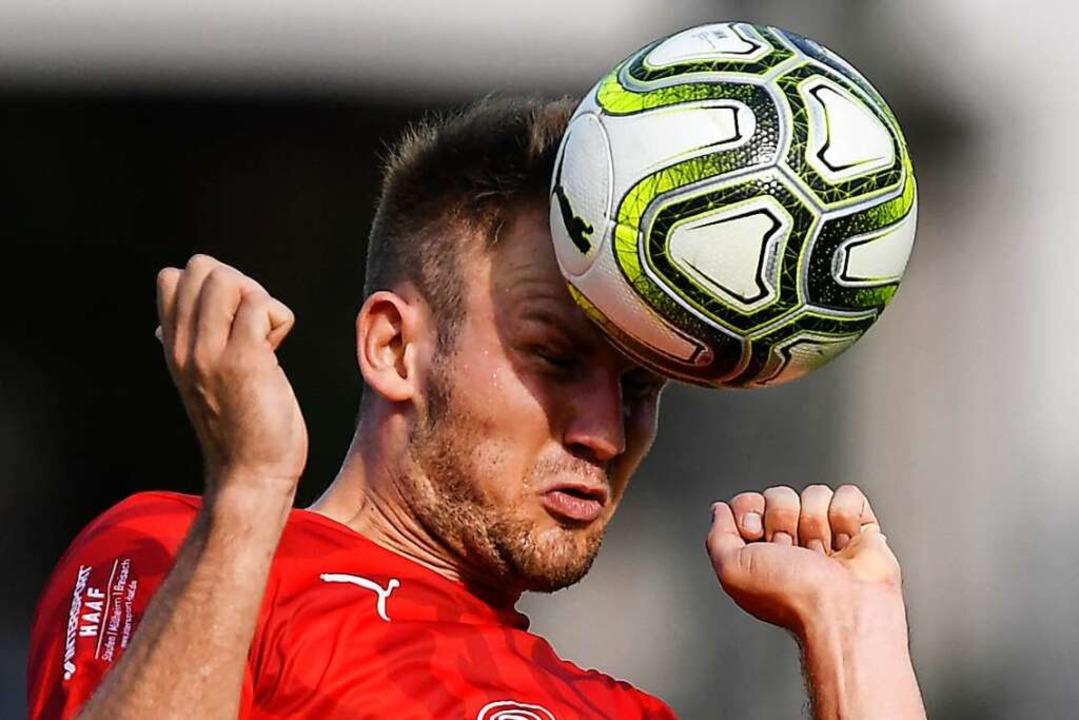 Auf  Nils Mayer muss der FC Auggen künftig verzichten.    Foto: Patrick Seeger