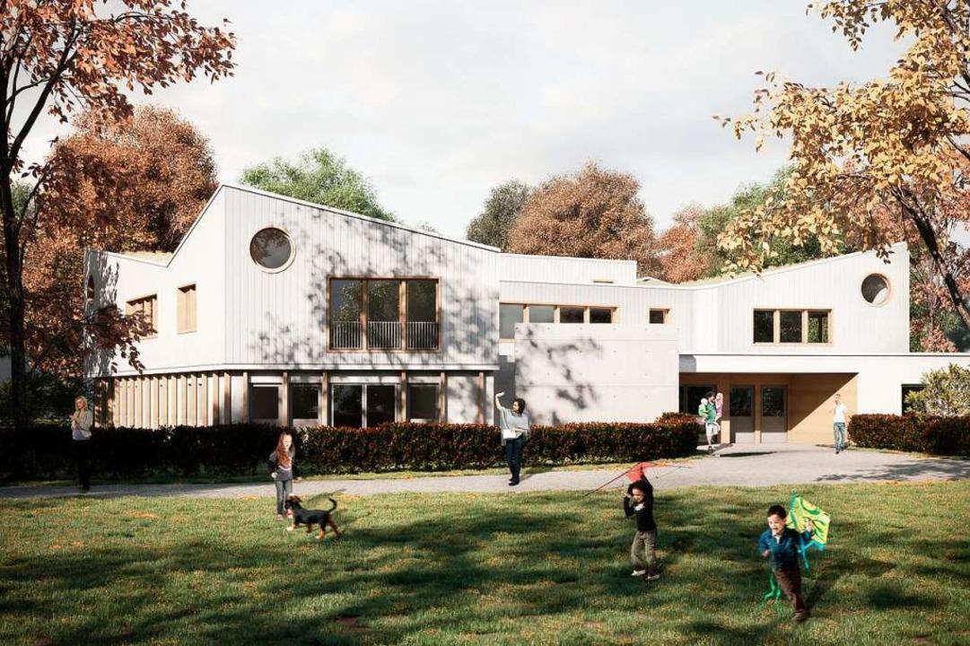 So könnte die ausgebaute Kita Violett ...r  Kita unabhängigen Eingang erhalten.  | Foto: ABMP Architekten