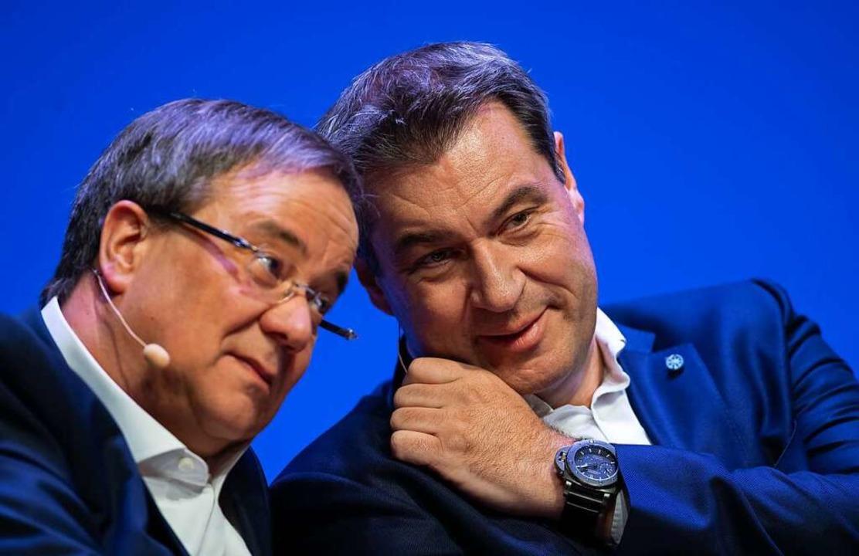 Das Prozedere der Union zur Kandidaten...ndant Markus Söder  mit im Rennen ist.  | Foto: Guido Kirchner (dpa)