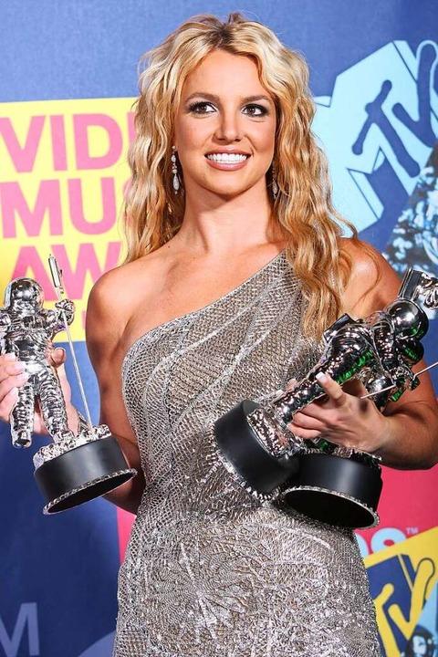 Britney Spears 2008 bei der Verleihung der MTV Video Music Awards.    Foto: KEVIN WINTER, ps/tc
