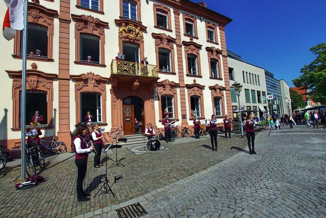 Schon unter Corona-Bedingungen wurde M...aus dem Offenburger Rathaus musiziert.    Foto: Franz Späth