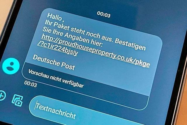 Paket-Info per Fake-SMS: Nicht auf Link klicken!