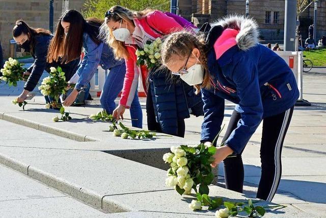 Auch in Freiburg wurde wieder der Shoa und ihrer Opfer gedacht