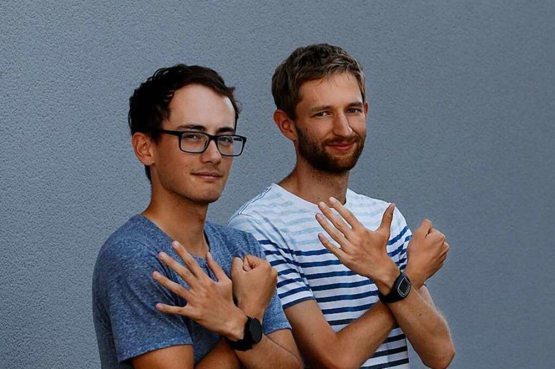 """Nathaniel Seiler (links) und Carl Dohm...anten"""" letztmals olympisch sein.    Foto: Benedikt Hecht"""