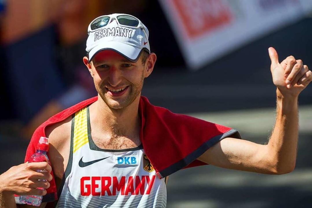 Carl Dohmann nach Platz fünf bei der EM 2018 in Berlin    Foto: Hendrik Schmidt