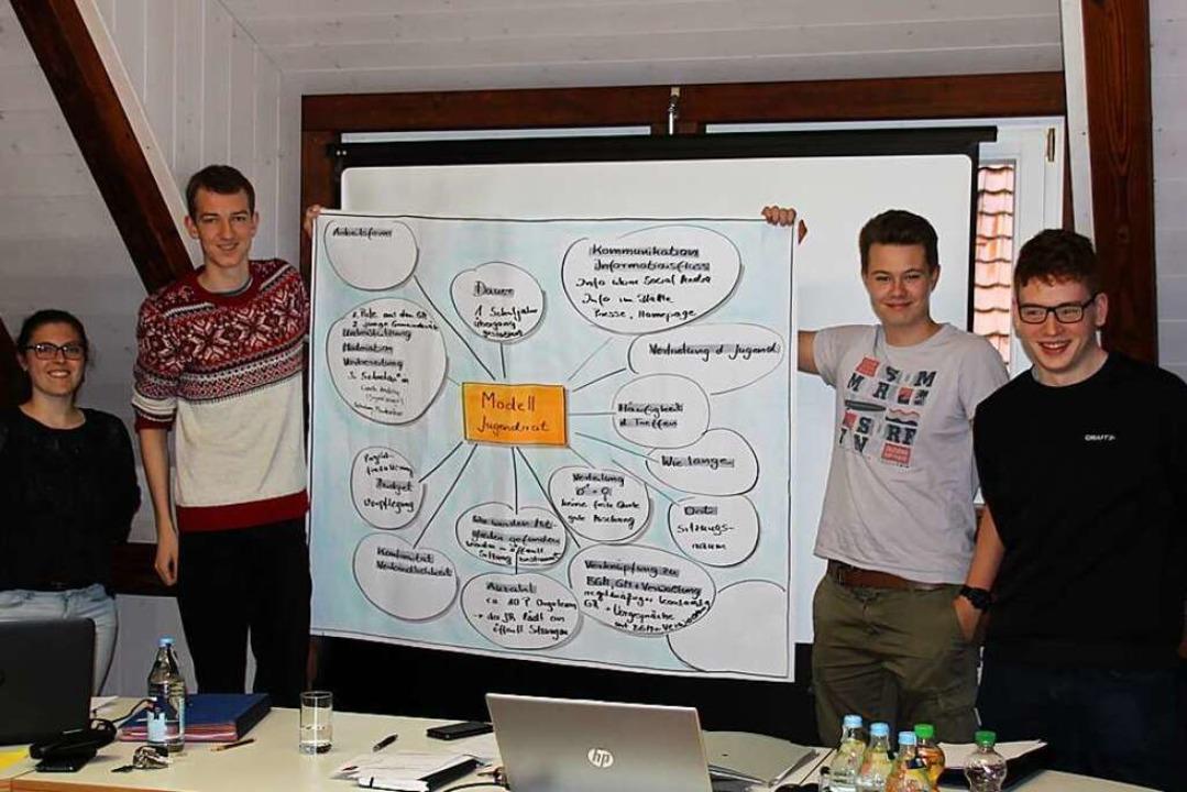 Mitglieder der Arbeitsgruppe  Jugendra...ann, Justus Höfler und Jonathan Schüle  | Foto: Mario Schöneberg