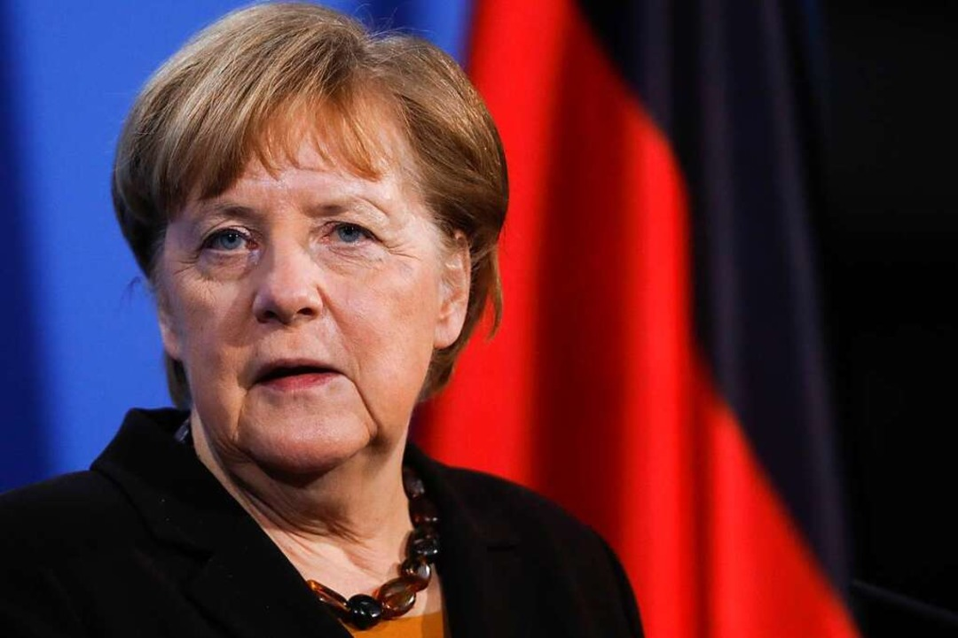 Bundeskanzlerin Angela Merkel wird sic...innen und -präsidenten zusammensetzen.  | Foto: Markus Schreiber (dpa)