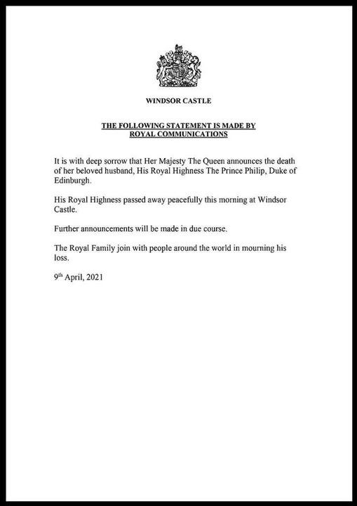 Die offizielle Verlautbarung des Hofes.  | Foto: -- (dpa)