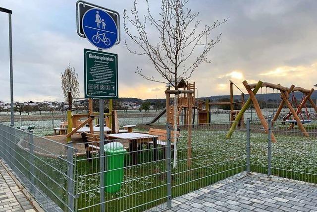 Der Spielplatz im Neubaugebiet in Orschweier ist freigegeben