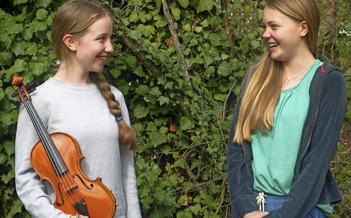 Werden nun am Bundeswettbewerb teilneh...s) und Anna-Lea Marquigny aus Müllheim  | Foto: Volker Münch