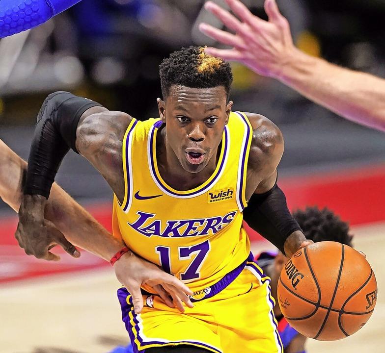 Im Angriff kaum zu stoppen, in der Abw... hier im Trikot der Los Angeles Lakers  | Foto: Carlos Osorio (dpa)