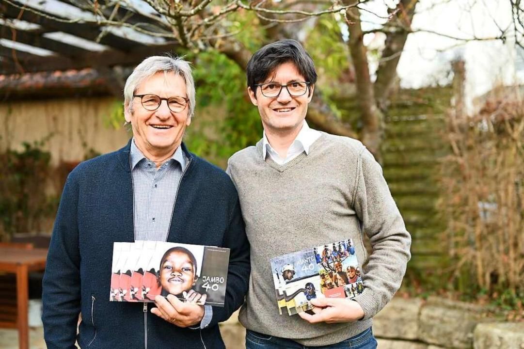 Klaus Holzäpfel (links) und sein Sohn ...äpfel sind treibende Kräfte im Verein.    Foto: Freiburg