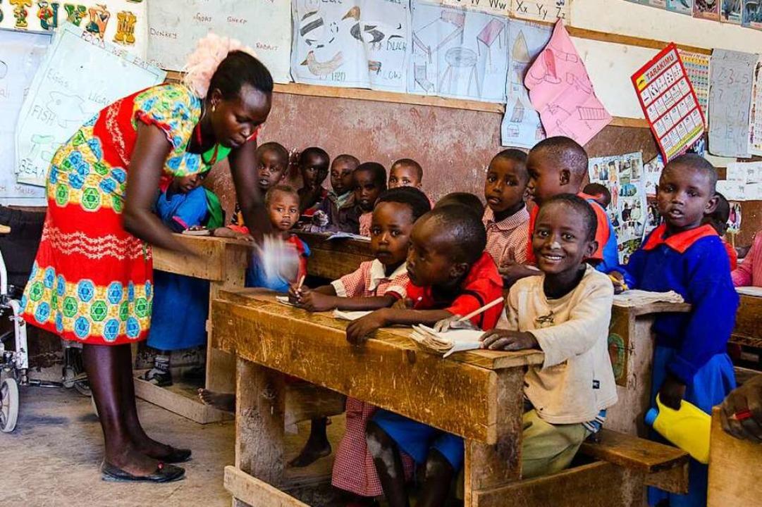 Das Foto entstand in einer Schule in N...terstützt, die auf Regelschulen gehen.    Foto: privat