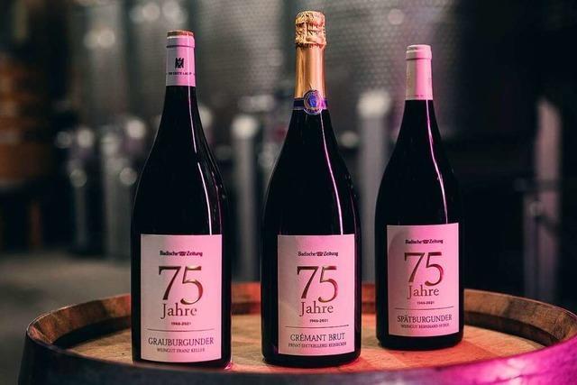 Zwei besondere Weine und ein herrlicher Sekt: Das ist das BZ-Jubiläumspaket