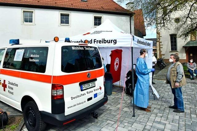 Mit dem DRK-Mobil sind jetzt auch Schnelltests in den Freiburger Stadtteilen möglich