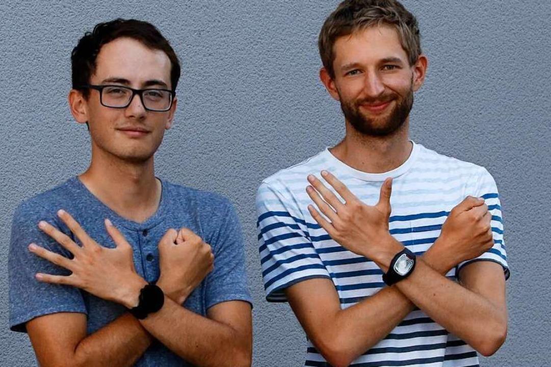 Nathaniel Seiler (links) und Carl Dohm...nge Kanten letztmals im Programm sein.  | Foto: Benedikt Hecht