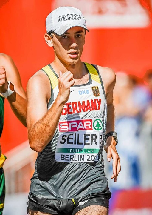 Nathaniel Seiler, hier bei der EM 2018...z vor seiner ersten Olympia-Teilnahme.  | Foto: Bernd Thissen