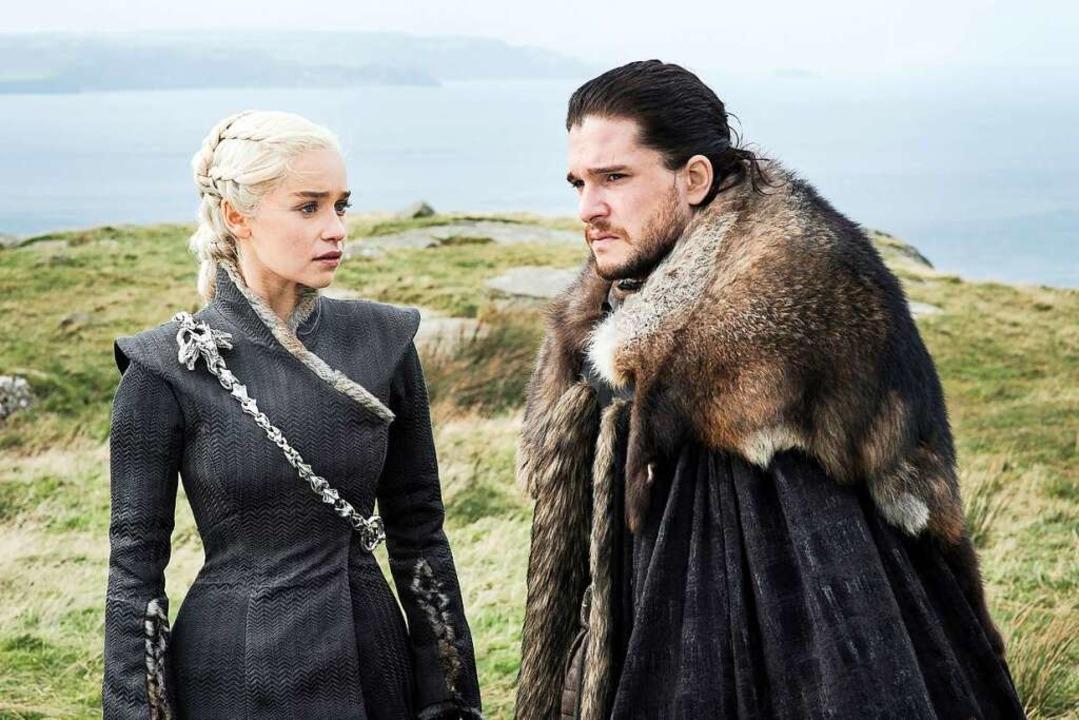Kit Harington als Jon Schnee und Emili... Staffel der Serie «Games of Thrones».  | Foto: Helen Sloan (dpa)