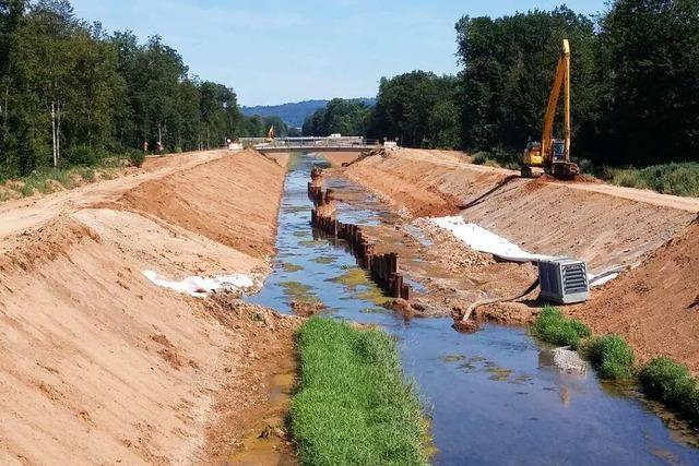 Die Arbeiten am Schutterentlastungskanal bei Lahr gehen weiter