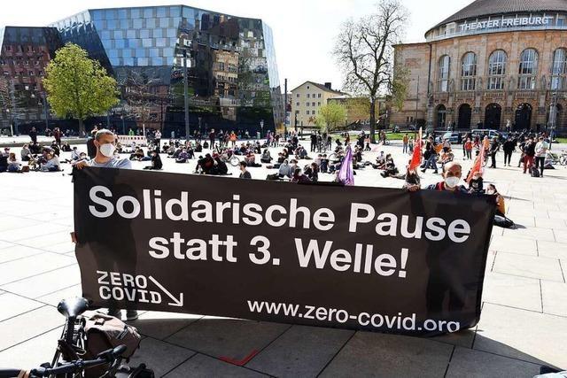Erste Zero-Covid-Kundgebung fand in Freiburg statt