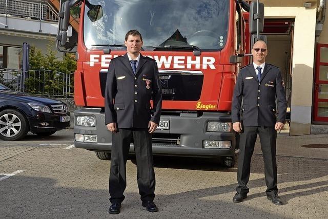 Steffen Held und Jens Schwer führen die Wehr