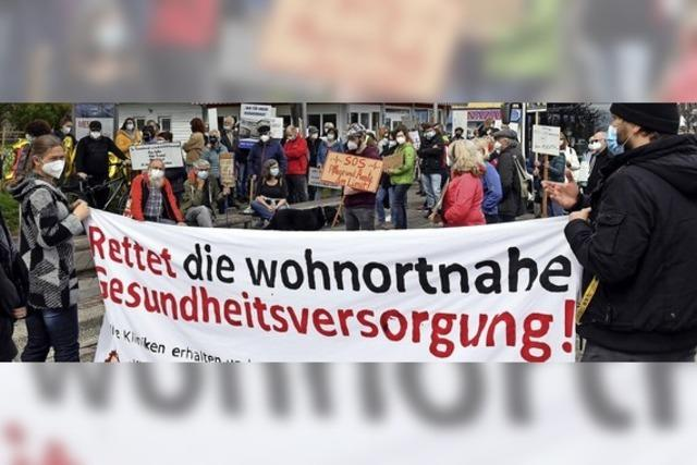 Protest gegen Klinikschließung