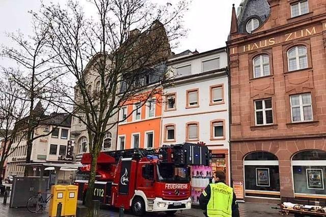 Notfalleinsatz auf dem Lörracher Marktplatz ist beendet