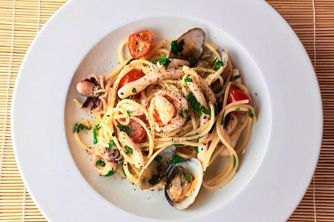 Spaghetti Frutti di Mare: den Duft einatmen und sich fühlen wie in Italien.  | Foto: Hans-Albert Stechl