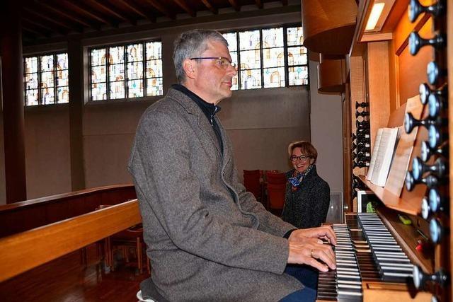 Nicole und Reinhard Krämer sorgen in Oberschopfheim für Gottesdienstmusik