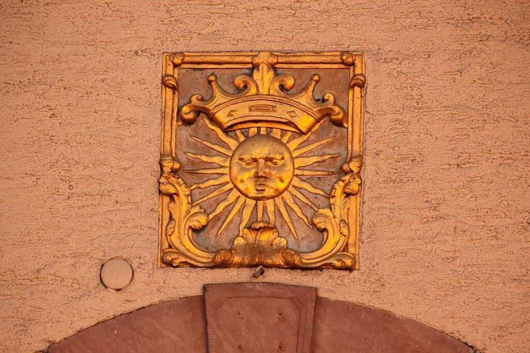 """Das Wappen der """"Sonne""""    Foto: Mario Schöneberg"""